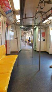 Die Skytrain von innen, die schnellste Art über Bangkok zu schweben