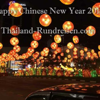 chinesische Lampions die die Straßen von Bangkok säumen