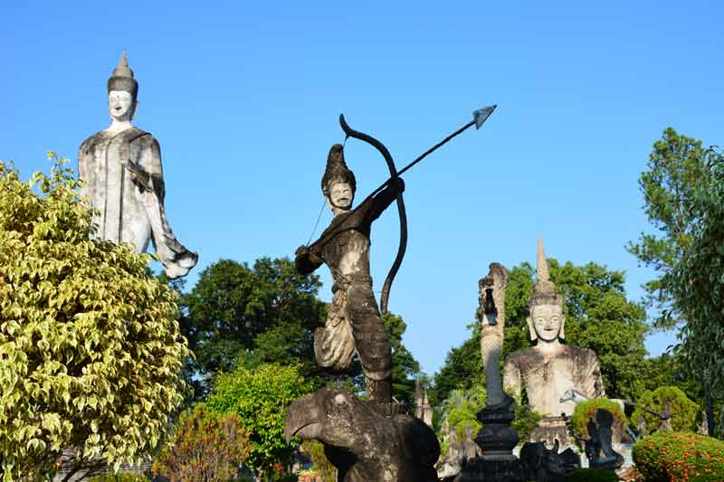 Die Salla Kaek in Nongkhai nahe der Grenze zu Laos