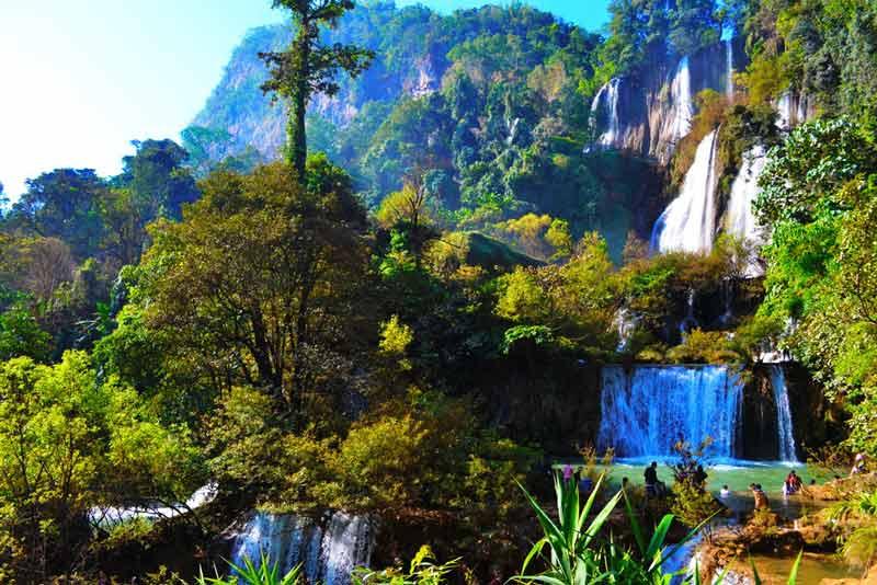 Den Thi Lo Su Wasserfall besuchen Sie bei einer Schlauchbootfahrt, die beiner unserer Touren abseits der Touristenpfade auf Sie wartet