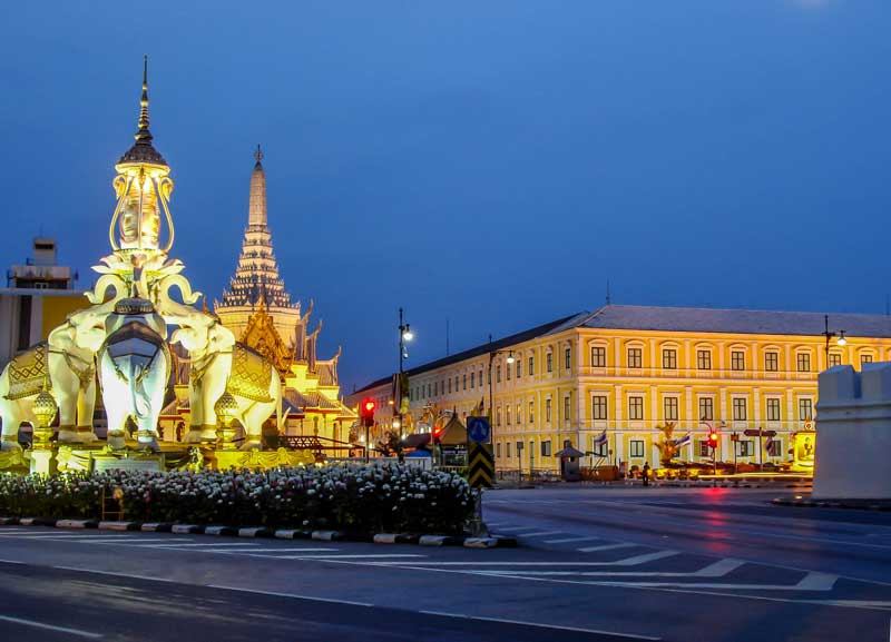 Der Grundstein von Bangkok mit einem eigenen Schrein