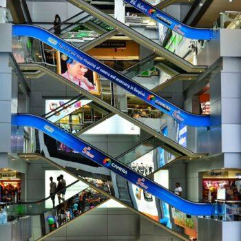 Die bei den Touristen sehr beliebte und eine der ältesten Shopping Malls Bangkoks, die MBK von innen