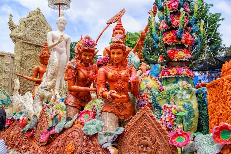 Das Kerzenfestival von Ubon Ratchathani