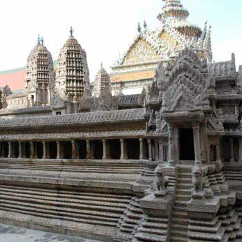 Das Model von Angkor Wat im grossen Königspalast
