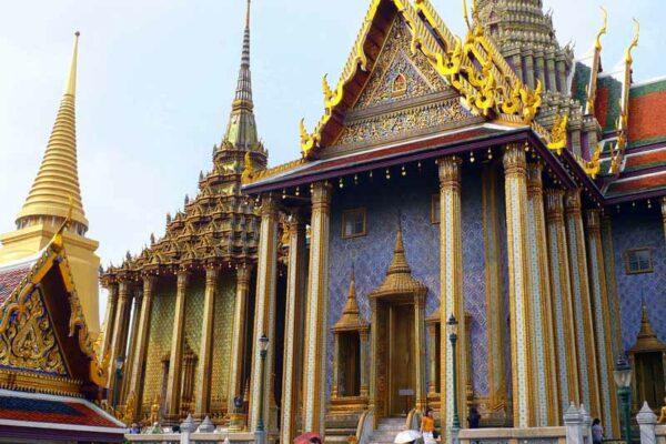 Tempel Gebäude im Wat Phra Keo