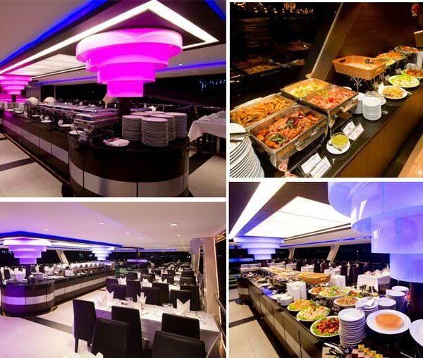 An Board der Chao Phraya Princess. Dinner Cruise in Bangkok