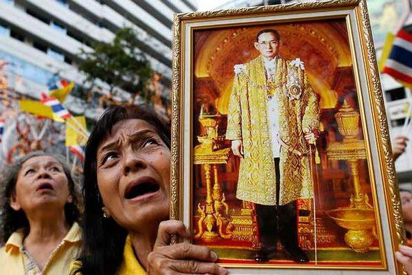 Ein Land in Trauer. Thailand wird zum Land der tausend Tränen.