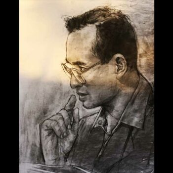 Ein Portrait des Königs Bhumibol Adulyadej