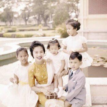 Der Prinz mit Mutter und Geschwistern