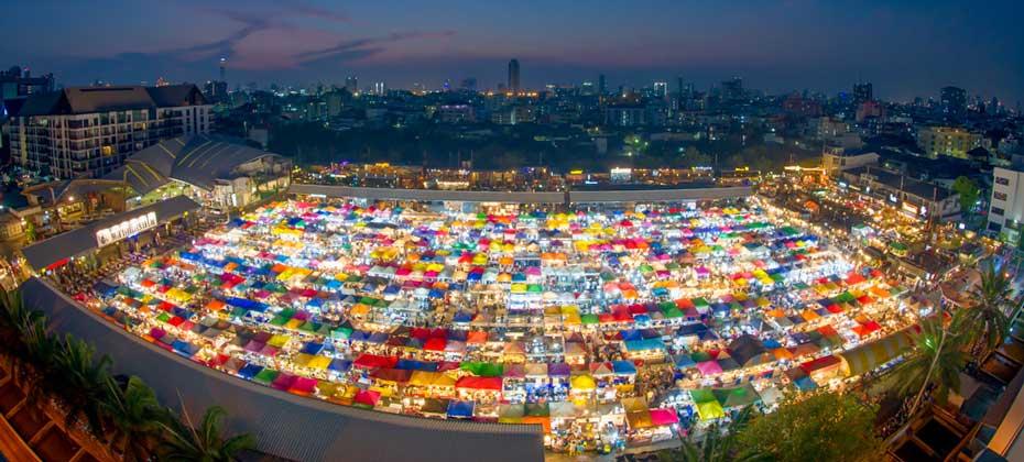 Train Market Bangkok, Thailand