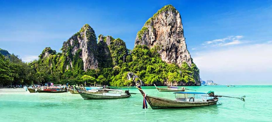 Railay West Beach,Krabi, Thailand