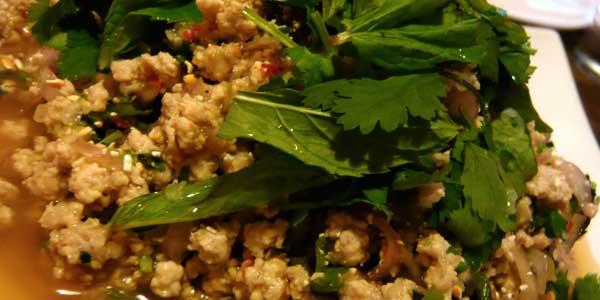Thailand Speisen Laab Moo