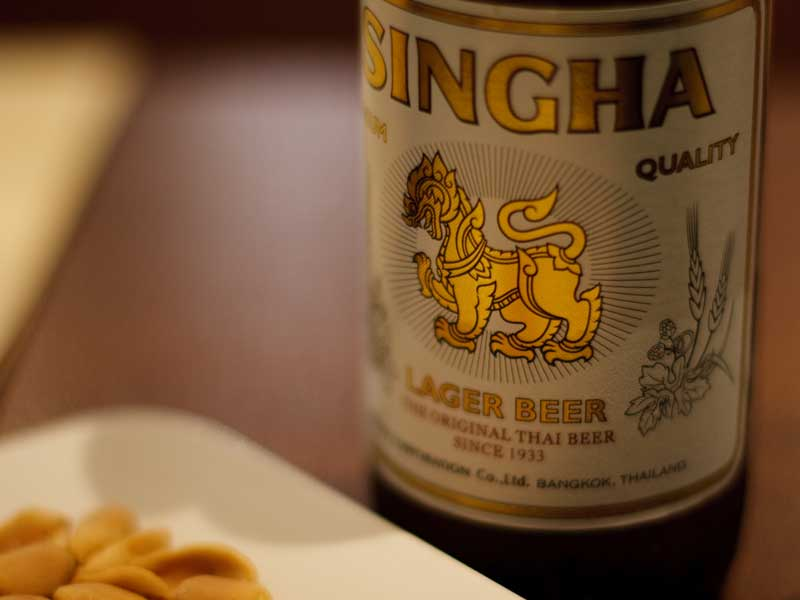 Thailand Speisen Singha Bier