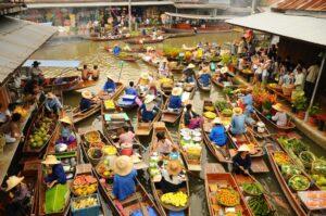 gruppenreisen südthailand Schwimmender Markt Daemon Saduak