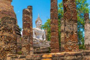Der Wat Sra Sri gehört zum Sukhothai Historical Park den Sie auf Ihrer Goldenes Dreieck Rundreise per Fahrrad erkunden