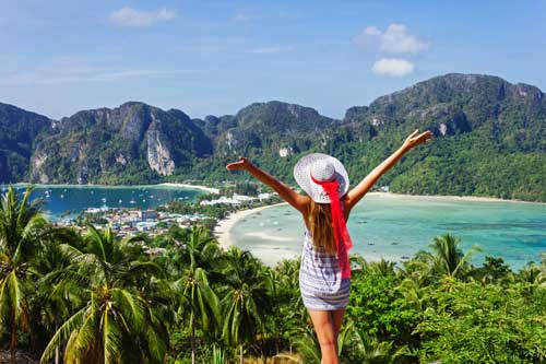 Isaan Rundreise Andamansee Inselhopping Koh Phi Phi Viewpoint