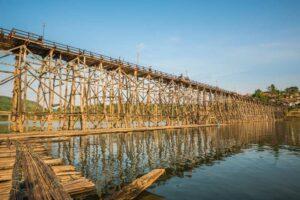 Sanklaburi – Wooden Monbridge Kanchanaburi Rundreise