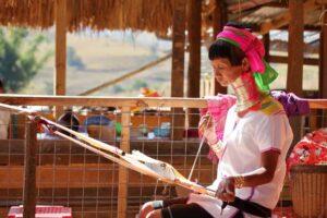 Langhalsfrauen Thailand Westthailand Rundreise