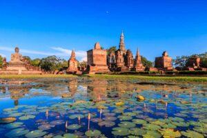 Der Sukhothai Hisorical Park Zentralthailand Rundreise