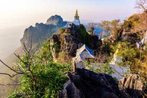 Bergtempel Lampang Zentralthailand Rundreise