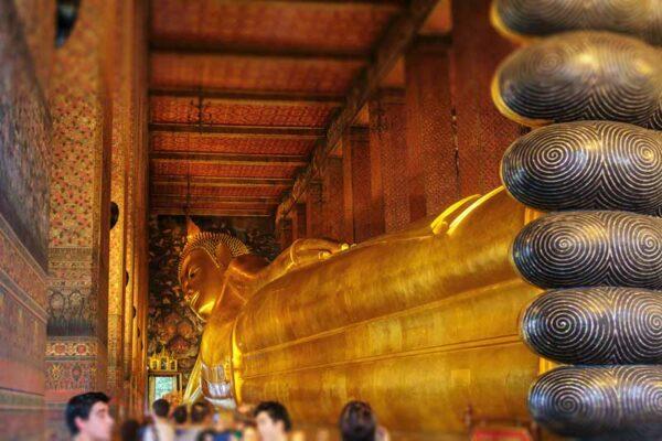 Der liegende Buddha in der Temeplanlage Wat Pho