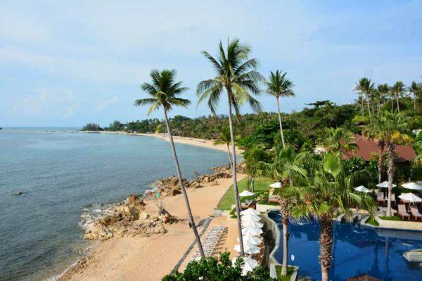 Blick vom Nora Beach Resort auf Nordchaweng.