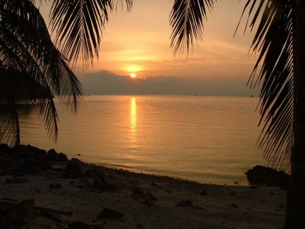 Koh Phangan bietet herrliche Sonneuntergänge.