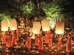 Loy Kratong Chiang Mai, Thailand Rundreisen