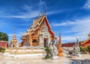 Tempel Wat Phra Mongkol Kiri, Phrae Province, Thailand