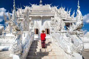 Weißer Tempel Wat Rong Khun in Chiang Rai