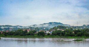 Blick auf den Mekong Fluss von Chiang Khong