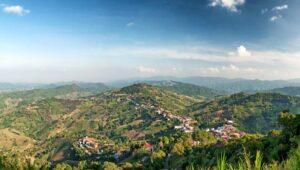 Panorama Blick über Chiang Rai und die Berge