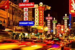 Flitterwochen Thailand, Bangkok China Town, Yaowarat Straße