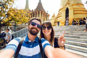 Flitterwochen Thailand, Honeymooner auf Sightseeing in Bangkok