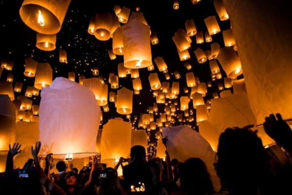 Loy Krathong, Laternenfest, Thailand