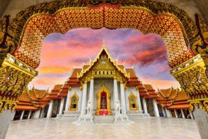 Marmor Tempel Bangkok, Rundreise Chiang Mai Rayong