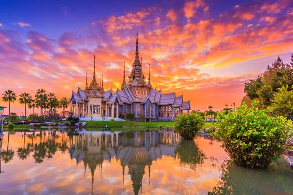 Der Tempel Wat None Kum in der Provinz Nakhon Ratchasima.