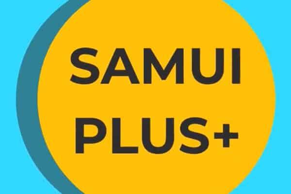 Koh Samui Plus Logo welches für den Start des Tourismus auf Koh Samui, Koh Phangan und Koh Tao steht.