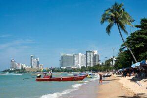 Blick auf den Strand von Pattaya