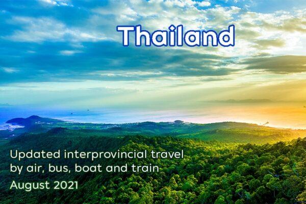 Blick über eine bucht im Sueden von Thailand