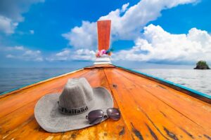 Longtailboot Thailand auf dem Weg zur Maya Bay