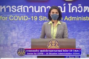 Nachrichtensprecherin des thailändischen Fernsehen zur Coronalage