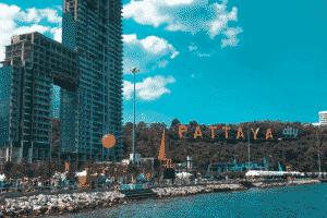 Pattaya Skyline, Stadt, Thailand, fuer Touristen gesperrt