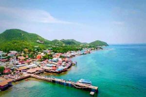 Pier von Koh Larn, eine Insel vor Pattaya
