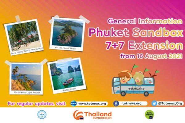 aktualisierte Informationen zur Phuket Sandbox