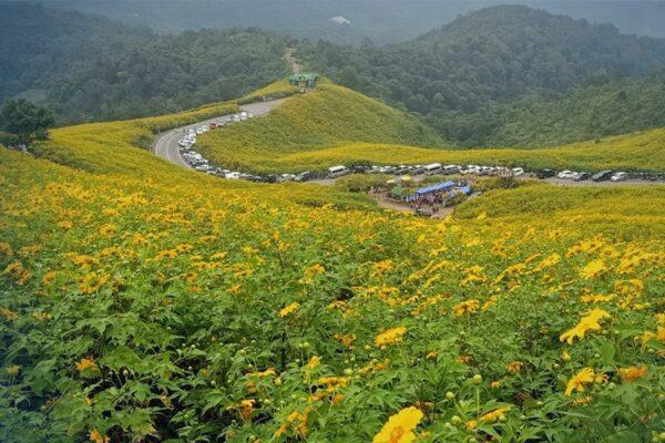 Blick über die Natur von Mae Hong Son, Thailand