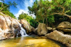 Der Hin Lad Wasserfall auf Koh Samui, Thailand