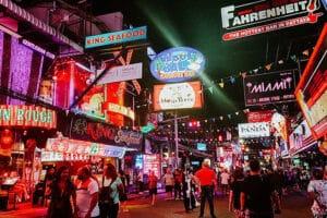 Pattaya Walking Street vor der Corona Pandemie