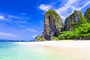Strand am Railay Beach in Krabi Thailand Phuket Sandbox Reise