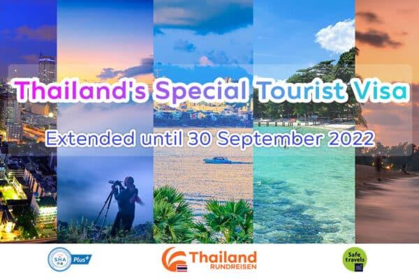 Thailand öffnet ohne Quarantäne und Special Touristen Visum verlängert